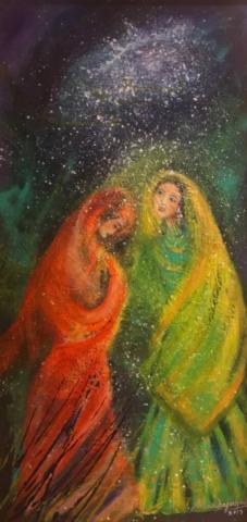 Between Us by Artist Aruna Chagarlamudi (Aruna's Art Studio)
