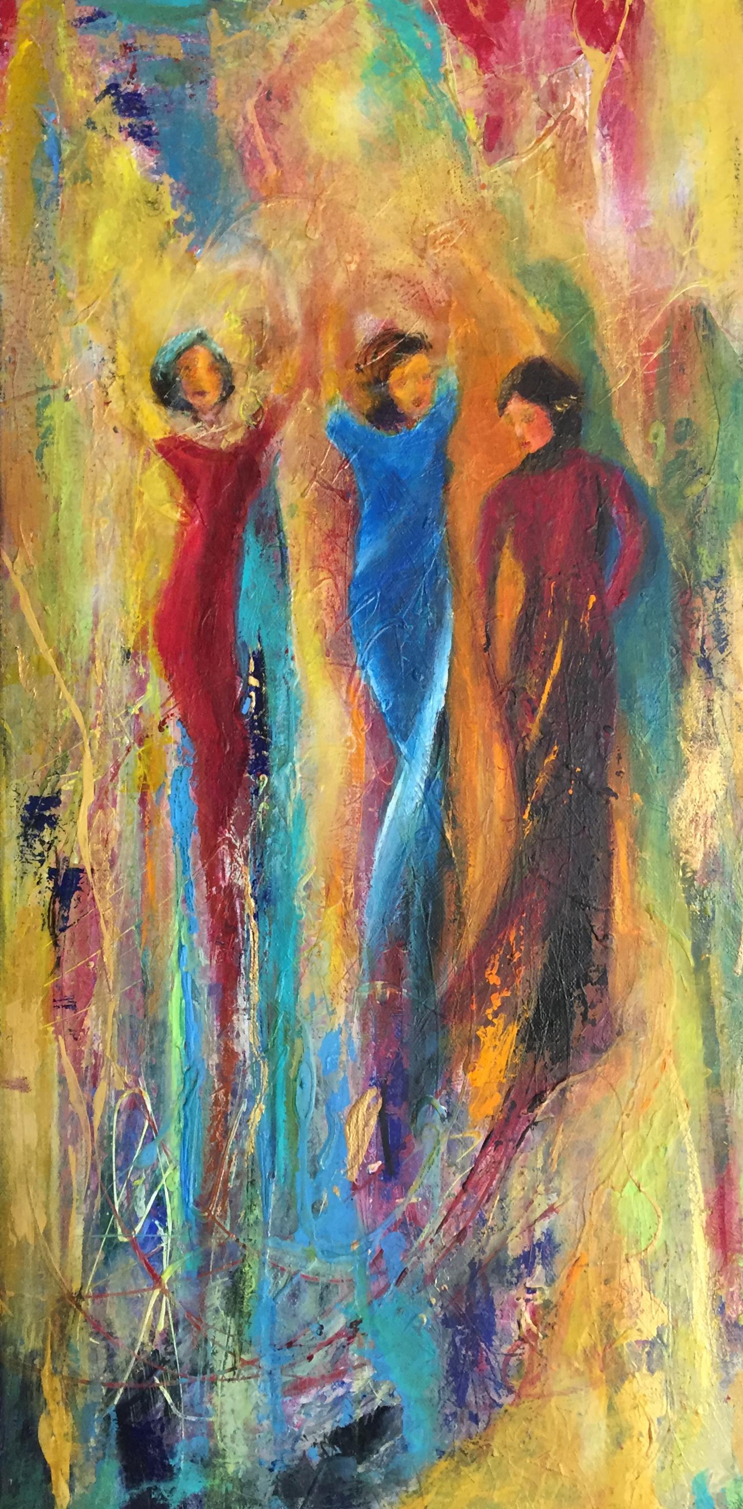 Joyous by Artist Aruna Chagarlamudi (Aruna's Art Studio)