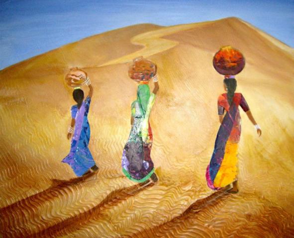 Life's Necessities by Artist Aruna Chagarlamudi (Aruna's Art Studio)