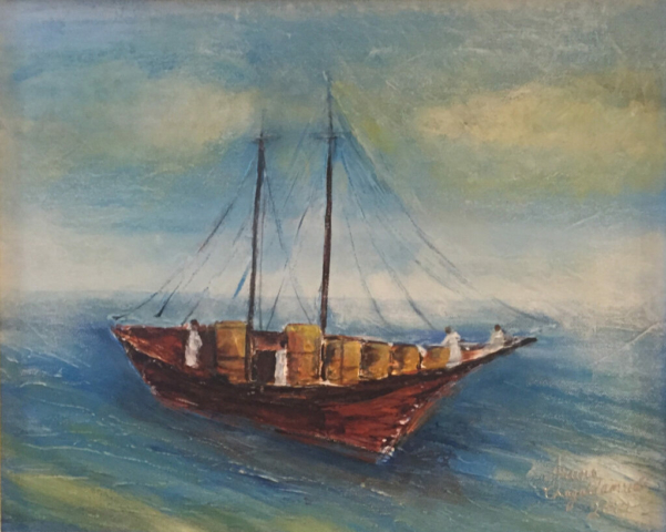 Sailing in Arabian Sea by Artist Aruna Chagarlamudi (Aruna's Art Studio)