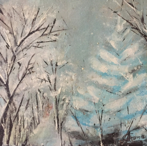 Winter Nature by Artist Aruna Chagarlamudi (Aruna's Art Studio)